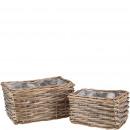 grossiste Plantes et pots: Panier de plantation Minas, lot de 2, L24 / ...